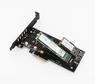 Адаптер PCI-E 4x to M.2 PCI-E NVMe, M.2 SATA Combo с охлаждением