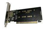 Контроллер PCI-E 3.0 x16 M.2 PCI-E M-Key 4 port NVMe SSD RAID