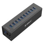 Разветвитель USB 10 портов Активный Orico Aluminum