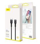 Кабель USB type C to Lightning Baseus Cafule Cable Type-C to iP PD 18W (CATLKLF-G1, CATLKLF-91)