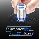 Автомобильная зарядка Rock Metal Mini Car Charger 4.8A