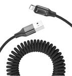 Кабель витой Rock Stretchable Charge Sync Cable Lightning для iPhone, iPad