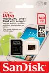Карта памяти 128 Gb SanDisk Ultra microSDXC Class 10 UHS-I 48MB/s 128GB + SD adapter