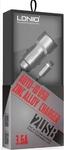 Автозарядка Ldnio Zinc Alloy Car Charger 2 USB 3.6A + Micro USB кабель (C302)