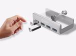 Хаб USB 3.0 4 порта Orico Silver с креплением