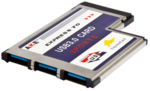 Контроллер ExpressCard 54mm USB 3.0 3 port AKE