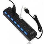 Разветвитель USB 7 портов (Hub Active 7 port) с блоком питания