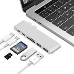 Адаптер док станция для MacBook Pro Dual USB type C Card Reader Hub
