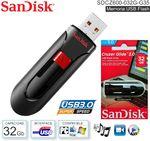 Флешка USB 32 Gb SanDisk Cruzer Glide 3.0 (SDCZ600-032G-G35)