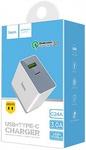Сетевая зарядка USB HOCO C24A (18W) Quick Charge 3.0