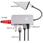 Многопортовый адаптер 9 в 1 VCOM Type-C Docking CU431M USB type C to HDMI, USB 3.0, USB-C, LAN, SD, MicroSD