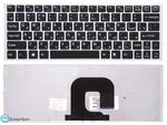 Клавиатура для ноутбука Sony VAIO VPC-S серии Чёрная с серебристой рамкой