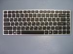 Клавиатура для ноутбука Sony VAIO VPC-Y серии Чёрная с серебристой рамкой