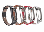 Ремешок браслет для Xiaomi Mi Band 2 - Mijobs Leather Wristband