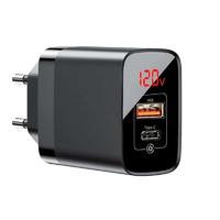 Сетевая зарядка USB-C + USB-A Baseus Mirror Lake PPS Digital Display Quick Charge A+C