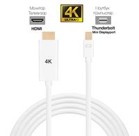 Кабель Thunderbolt (Mini DisplayPort) to HDMI (4K, 3840 × 2160)